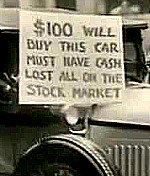 great depression car sale